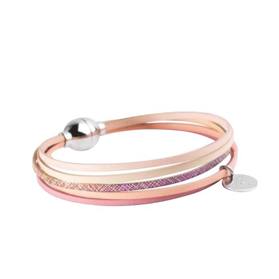 bracelet 3 tours blanc