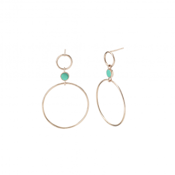 Boucles d'oreilles Gwyneth Swing Coral