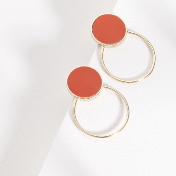 Boucles d'oreilles Maggy Swing Coral