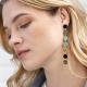Boucles d'oreilles Emma Mary Blue