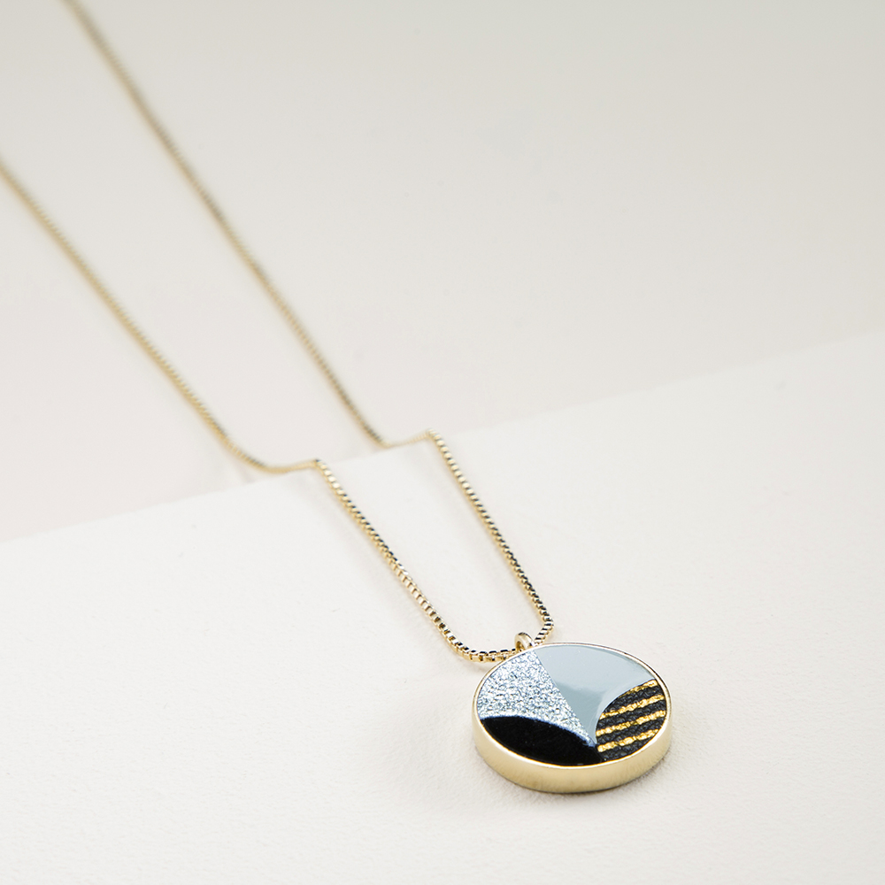 Collier amulette Anna Mary Blue