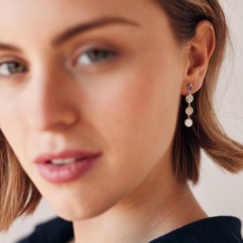 Boucles d'oreilles Ambre