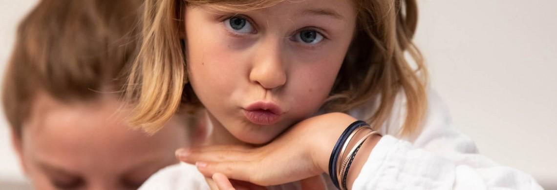 Bracelet enfant en cuir - Collection Multiliens avec étoile - Bijoux Créateur