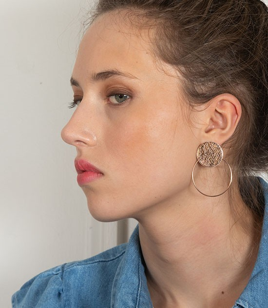 Boucles d'oreilles Andy On The Moon